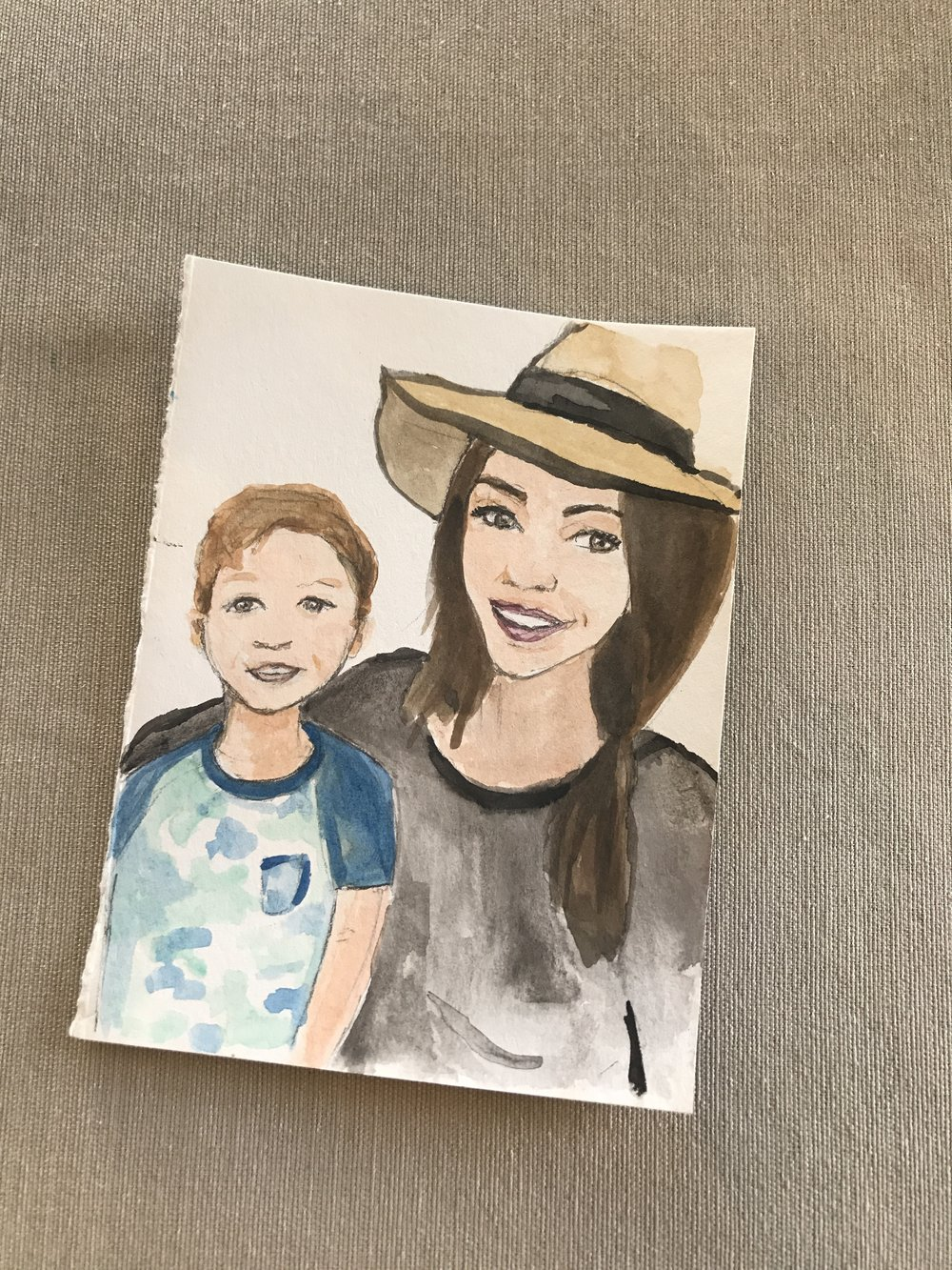 Custom watercolor art