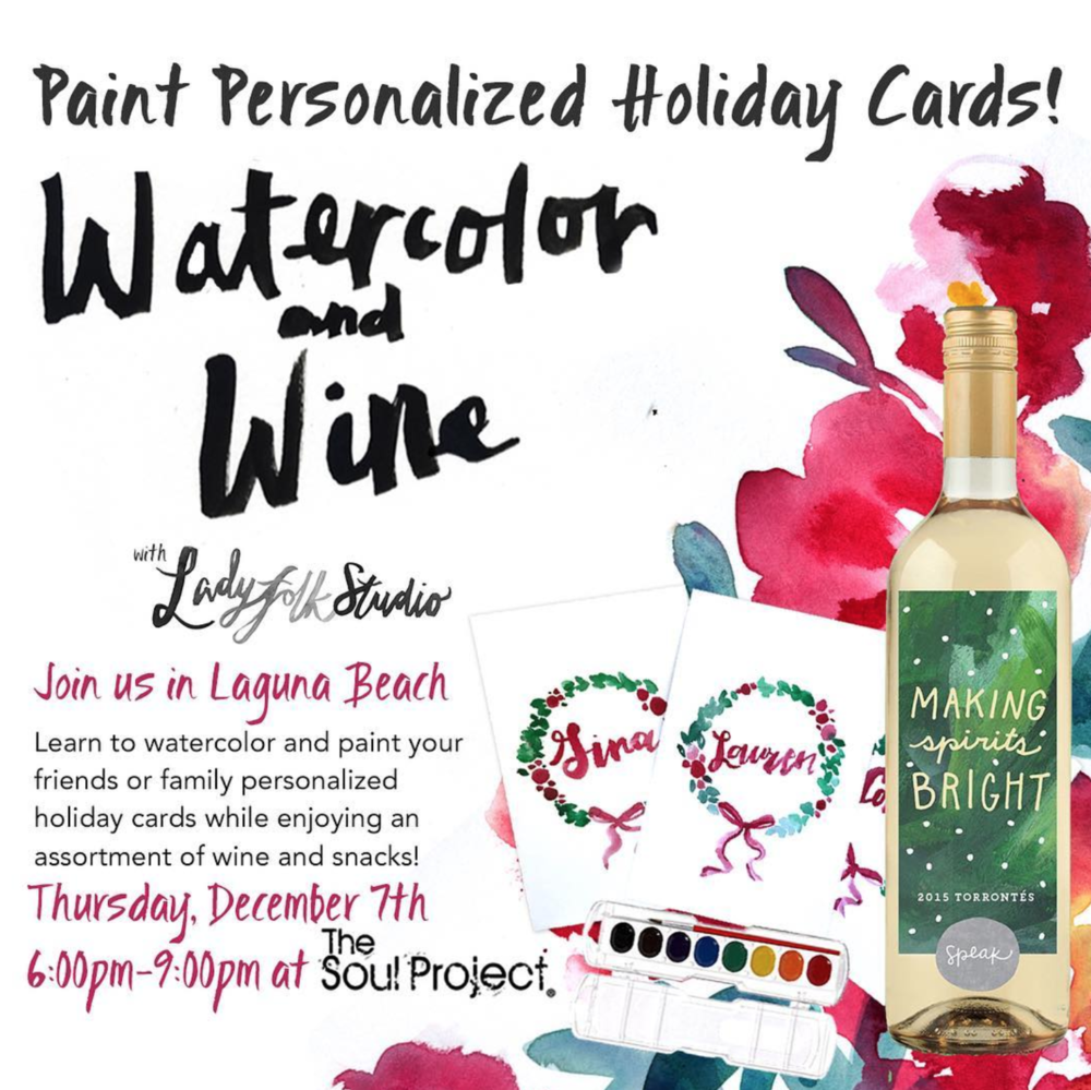 watercolor and wine workshop