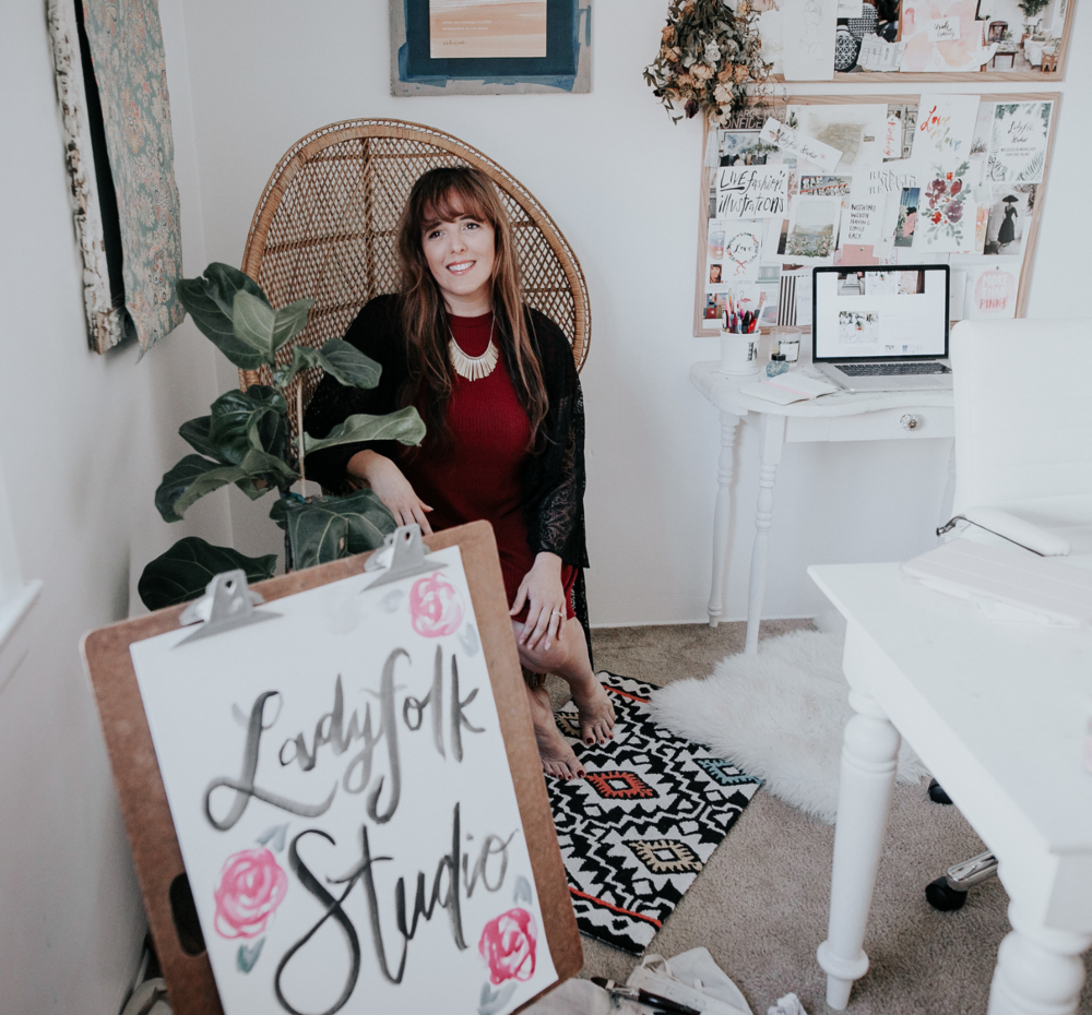 Ladyfolk Studio artist in Laguna Canyon