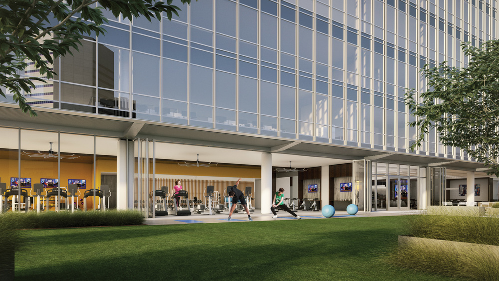 12th Floor Fitness Center and Activity Lawn
