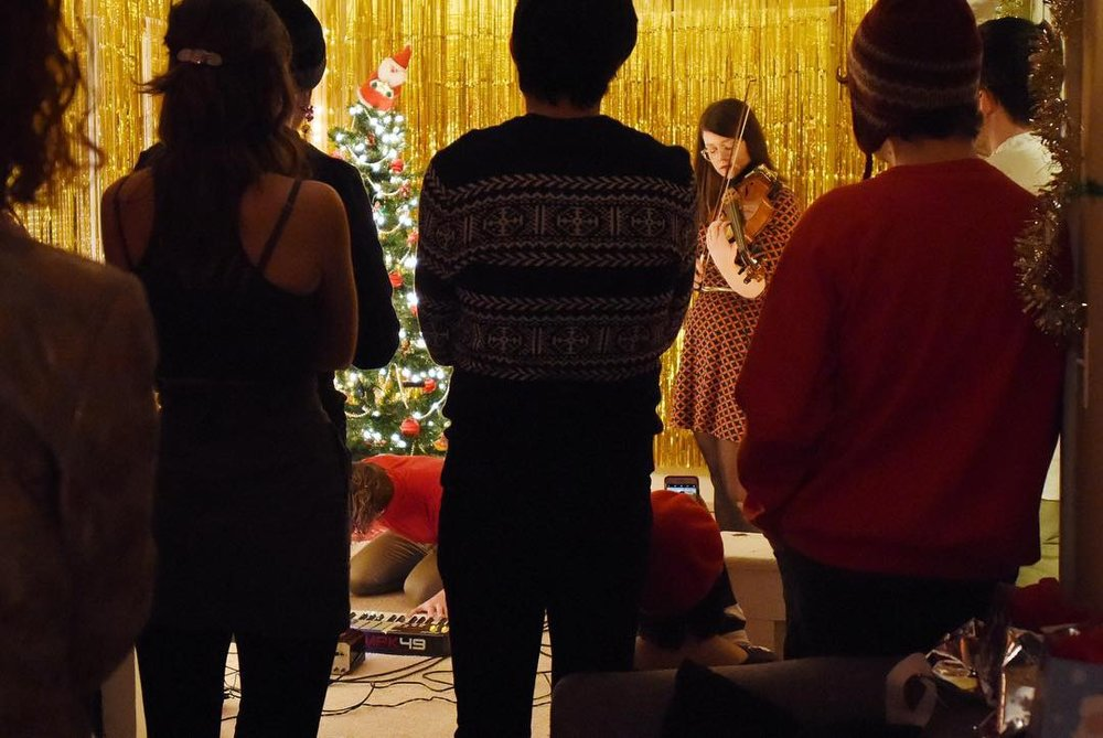 Performing  Celebrate!  at the Tinsel Room, KCMO 12.14.18  PC Lauren Schrader