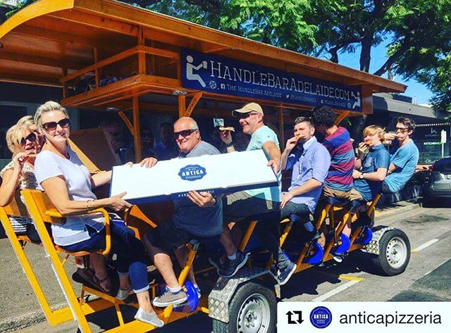 Work up an appetite from all that pedaling? We've teamed up with @anticapizzeria Each HandleBar booking will enjoy 20% off delicious Antica Pizzas on pick up orders (excluding lunch time offers)! Please order 1 hr ahead and show confirmation email to Antica at pick up #repost #anticapizzeria #adelaide #lunch #dinner #southoz #adelaidepizza #adelaidepizzeria