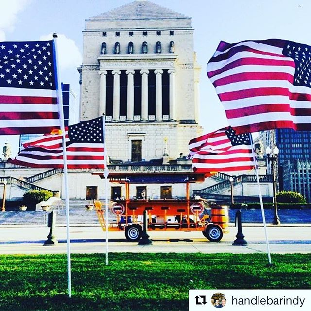 Happy 4th July to our good mates in the US!  #handlebarindy #independenceday #merica #downtownindy #handlebarbirthdays