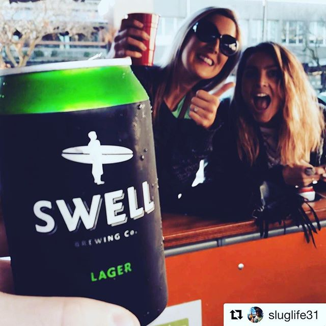 Happy Friday and cheers to the weekend! #repost @sluglife31 #swellbrewingco