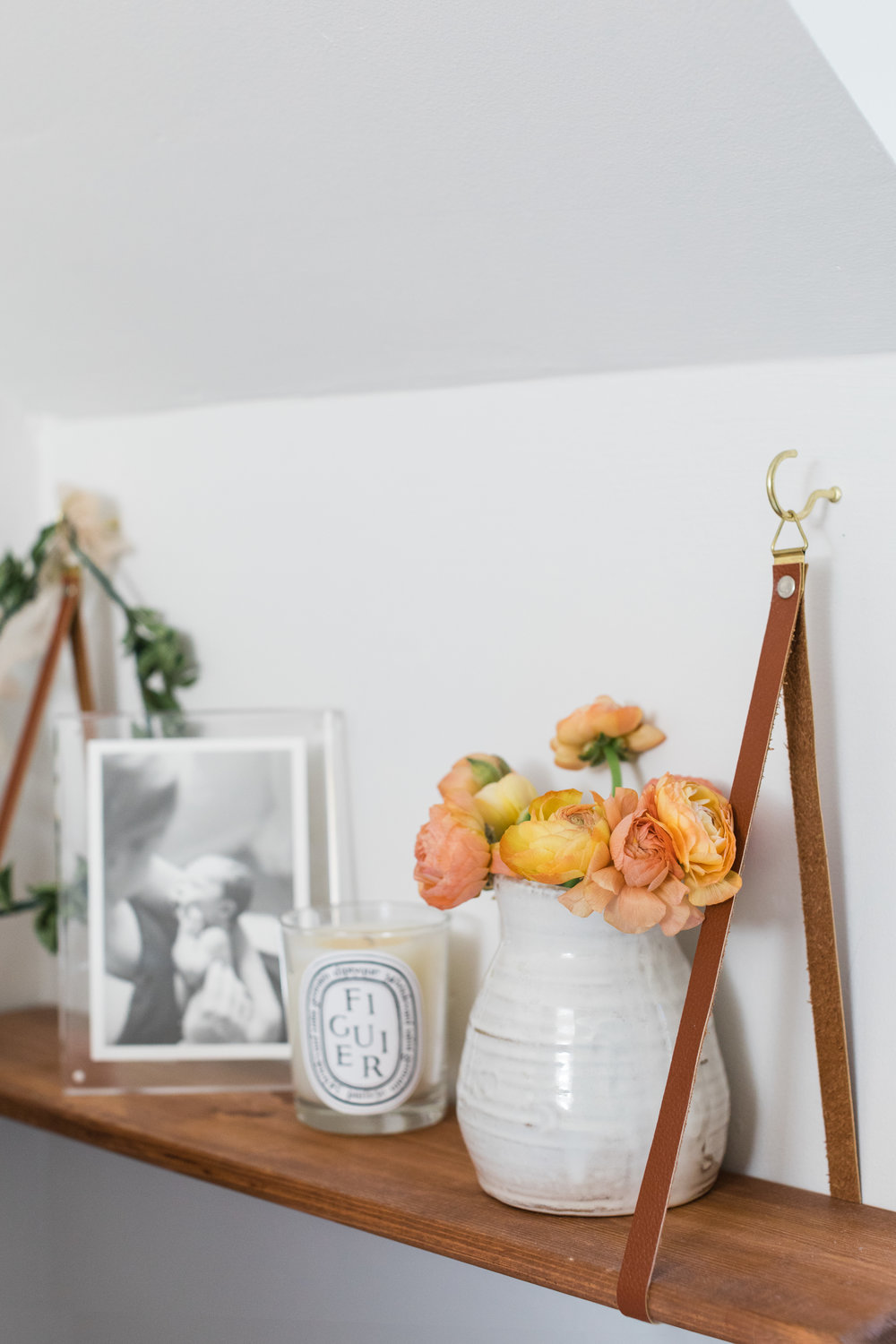 hanging shelf { similar } /  candle