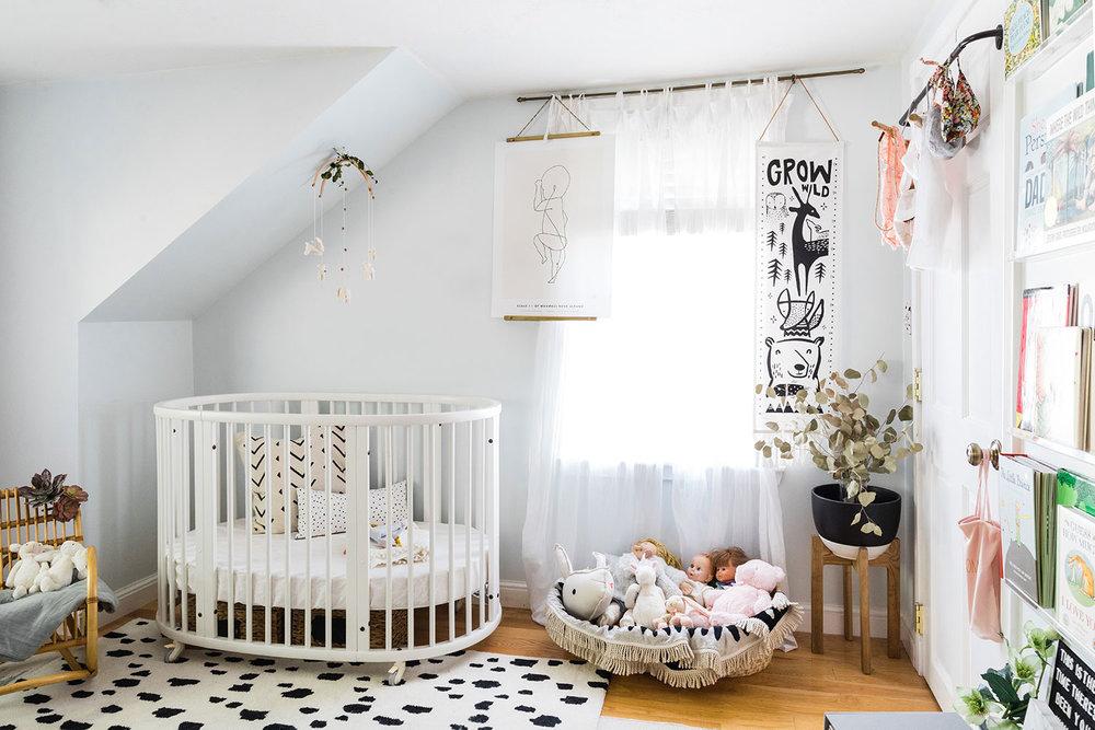 whimsical girl nursery design by Boston based designer mStarr design