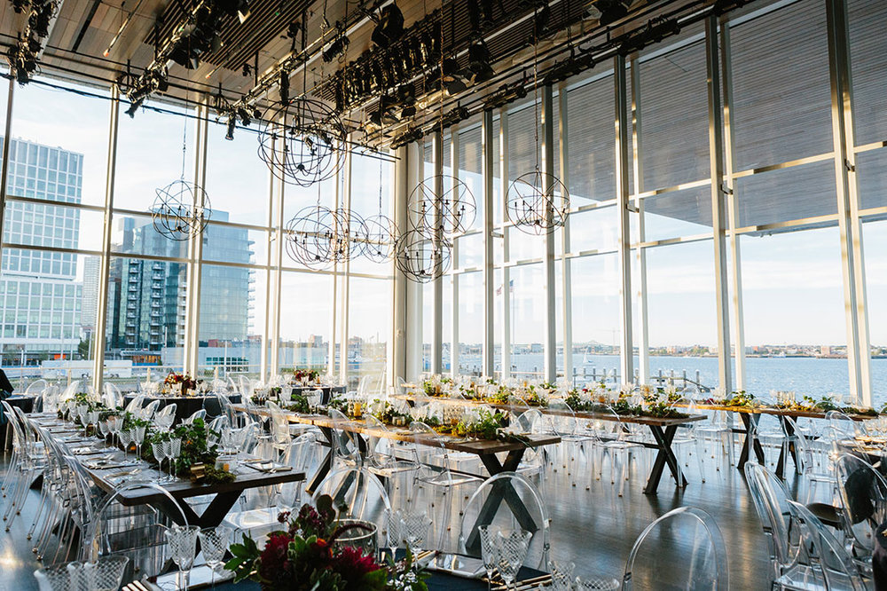 INSTITUTE OF CONTEMPORARY ART WEDDING by Boston based designer mStarr design