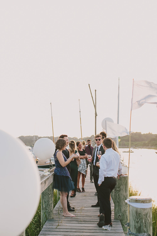 CAPE COD BOAT YARD WEDDING by Boston based designer mStarr design