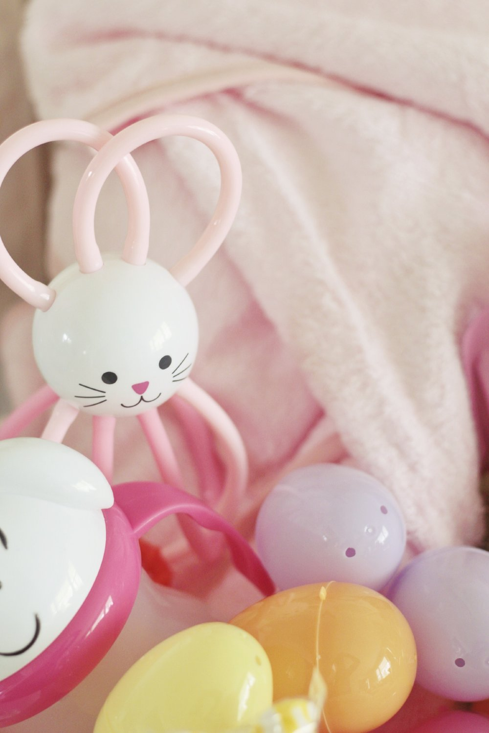 this little rabbit rattle is perfect for grabby hands and will keep her entertained on flights or on the go. and who could pass up this sweet little bunny sippy!?