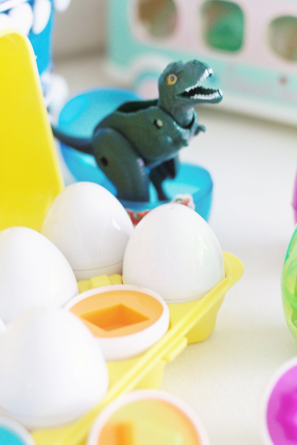 the dino eggs will be a finn favorite! the dino fold up inside the eggs for a surprise.