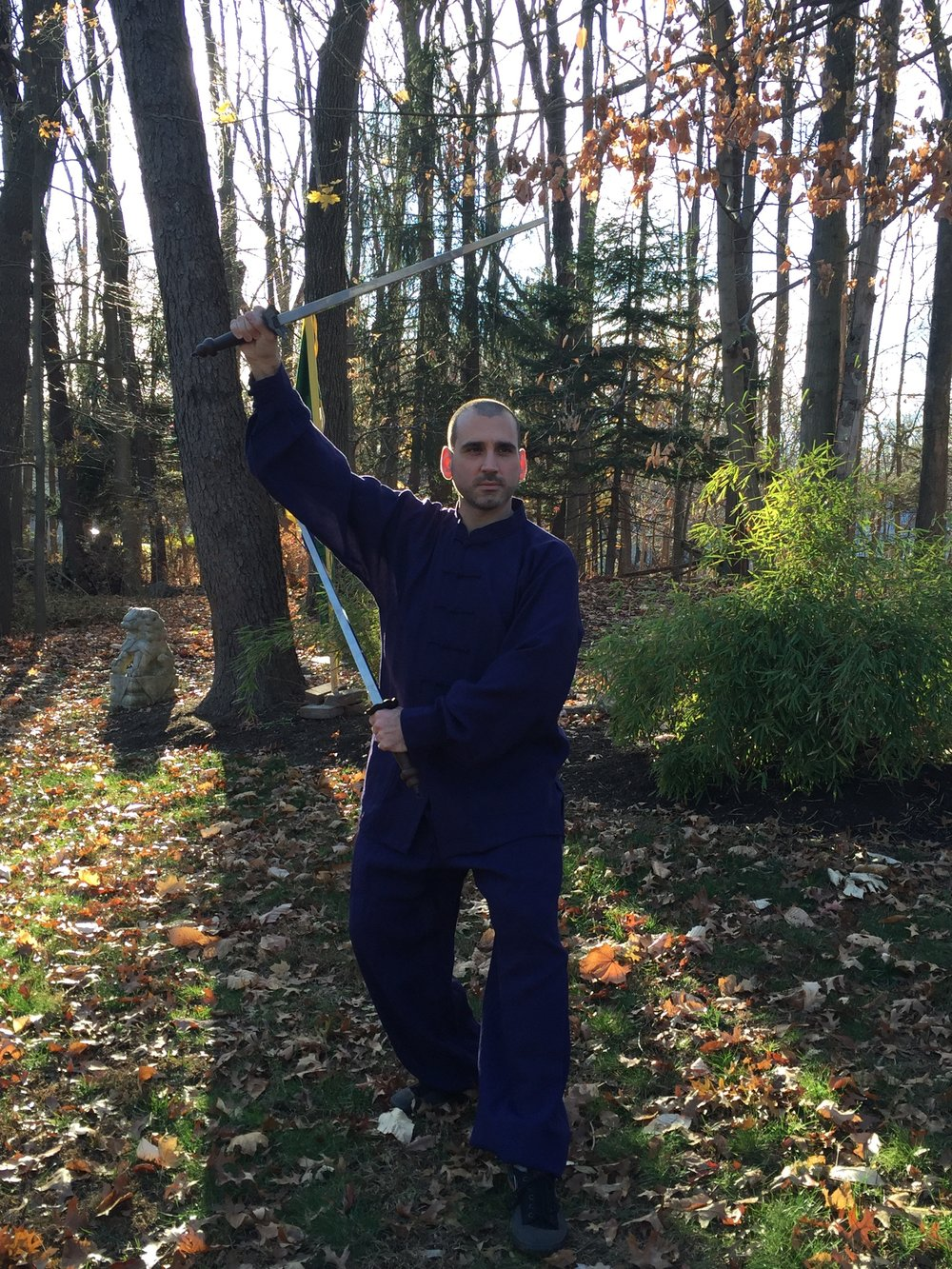 Taiji Jian 雙鐧 - Dr. McCann demonstrating the double mace (jiǎn 鐧), a traditional heavy weapon of Hunyuan and Chen Taiji. Each weighs in at about 2kg, and are made of steel at the Longquan Forge in China.