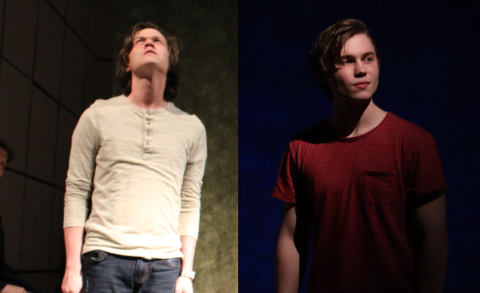 Left to right: Austin Alford and Gabe Lohse as Christopher Boone