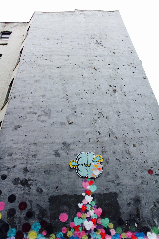 The coolest street art in East Village.