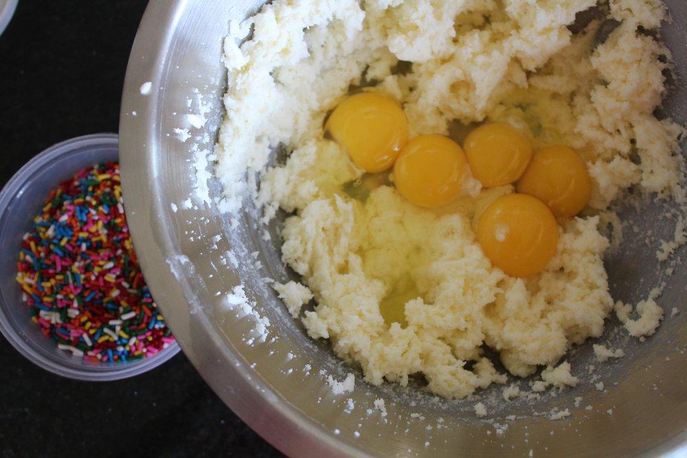 ...add eggs...