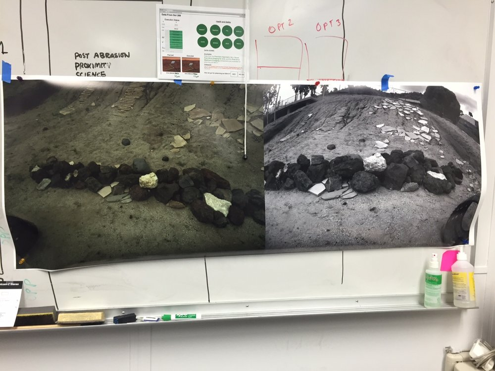 Images of the Outcrop on Mars
