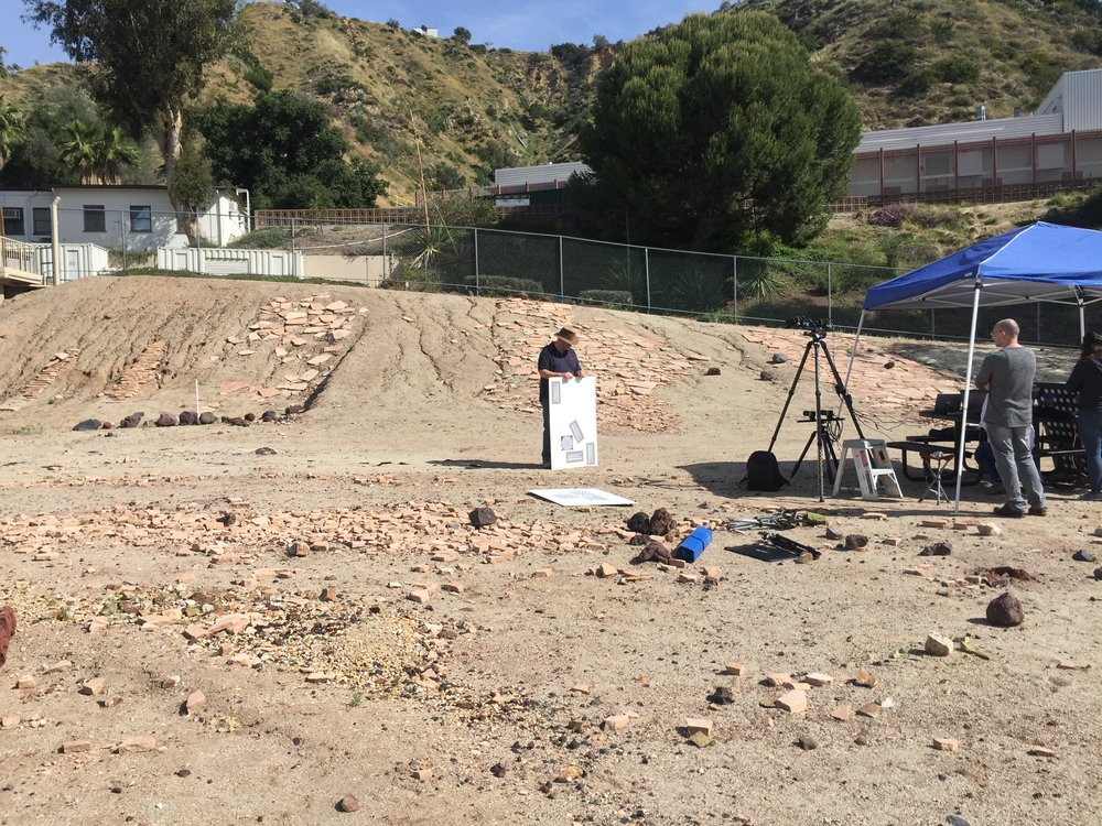 Once the outcrop was assembled, our prototyping team needed to calibrate the cameras that would be used to take images of the scenery during the simulation.