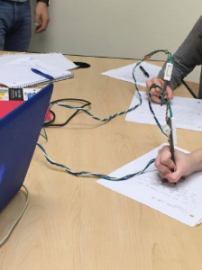 Student During User Testing