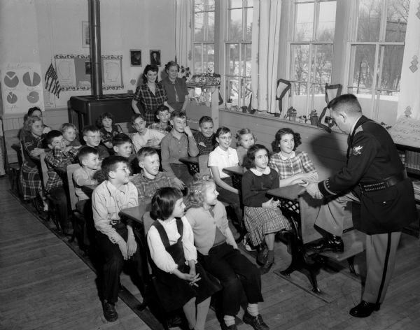 Image from the Wisconsin Hitorical Society of the Paoli Grade School Class, February 1951