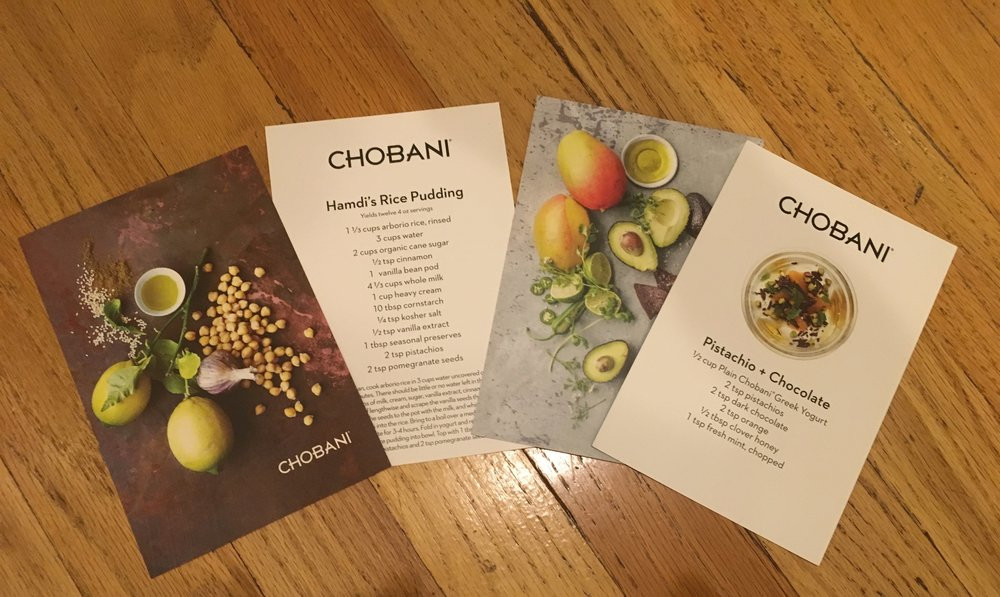 Beautifully designed recipe cards