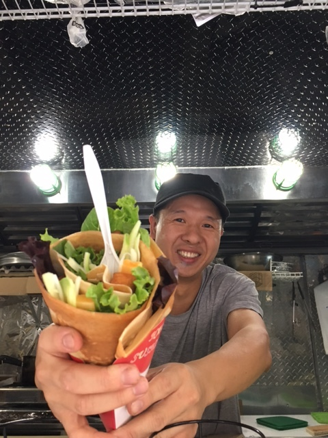 Sushi in a crepe cone!