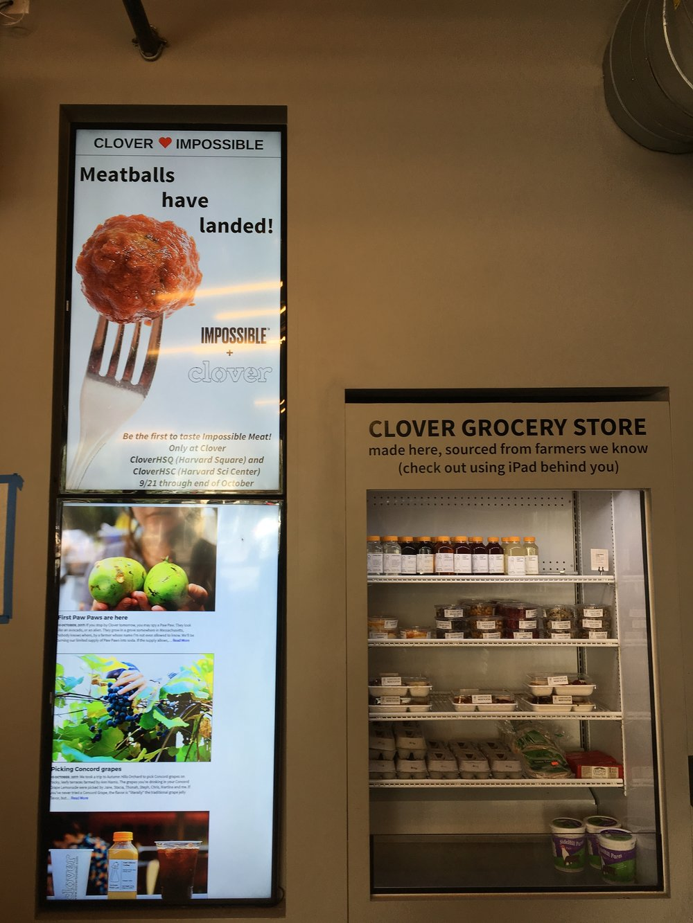 Digital displays and iPad ordering