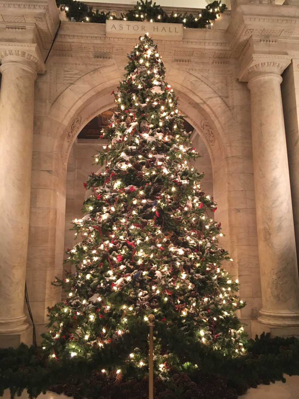 Oh Christmas Tree, at the NYPL