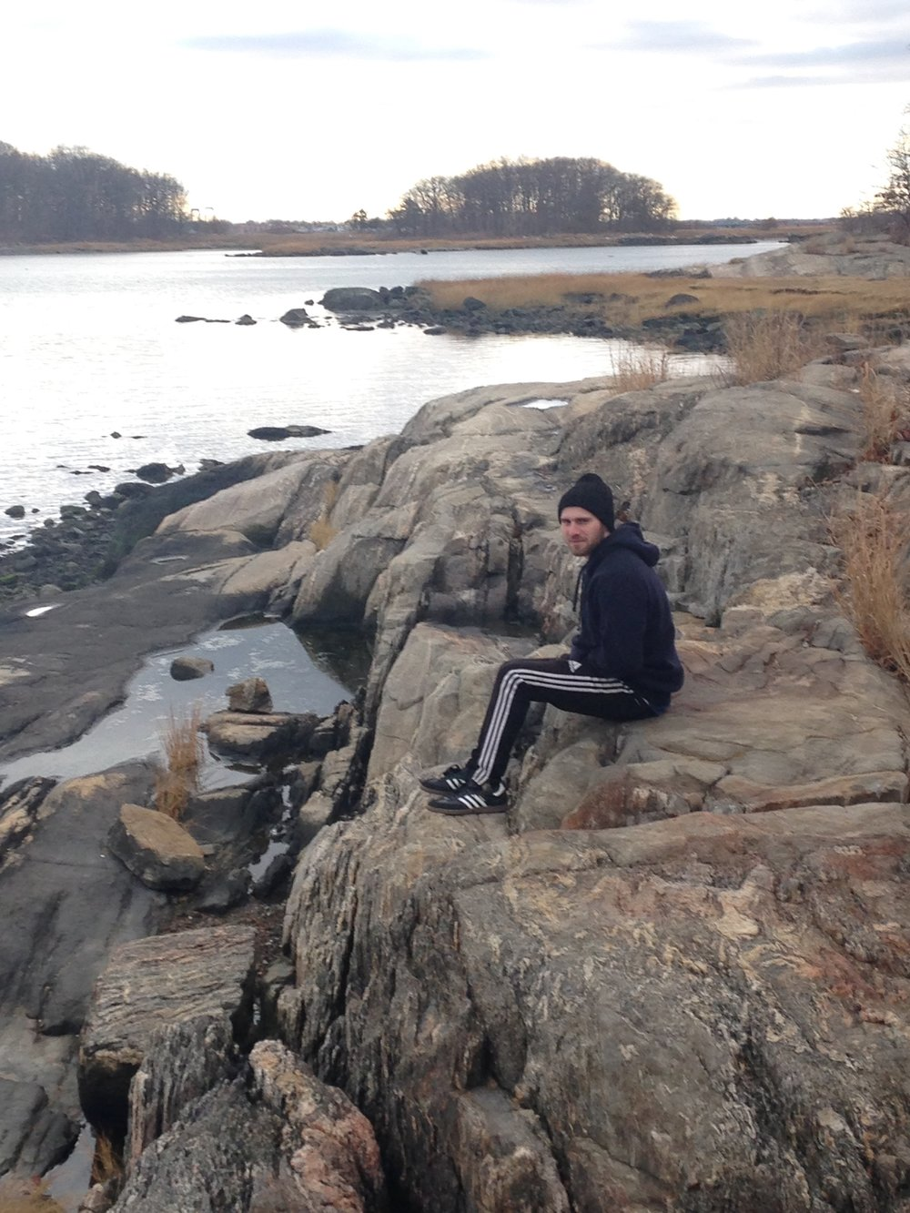 Last year's hike, son on the rocks