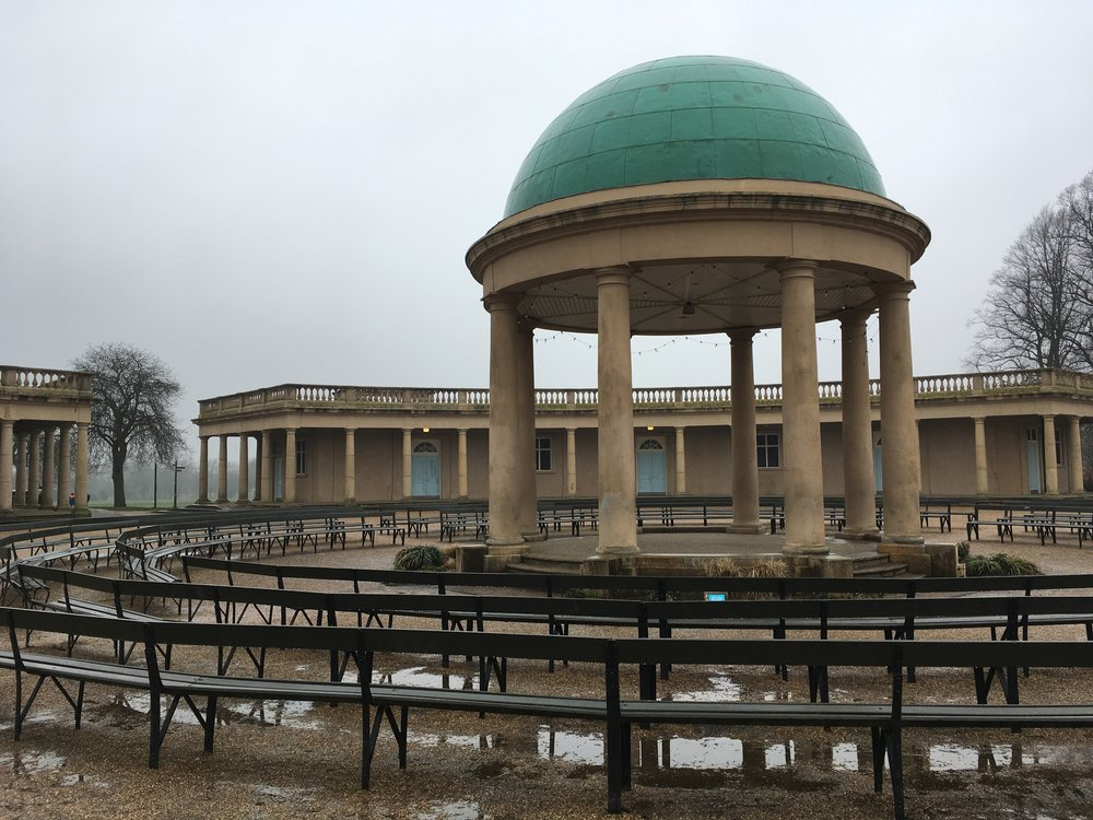 Eaton Park on grey blustery day