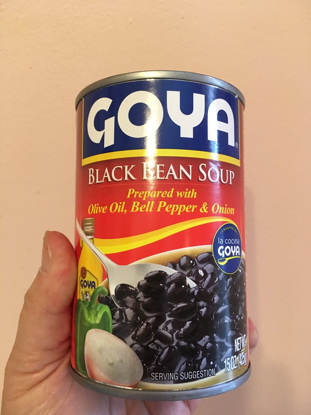 Tamales + rice + Goya black bean soup = satisfying lunch