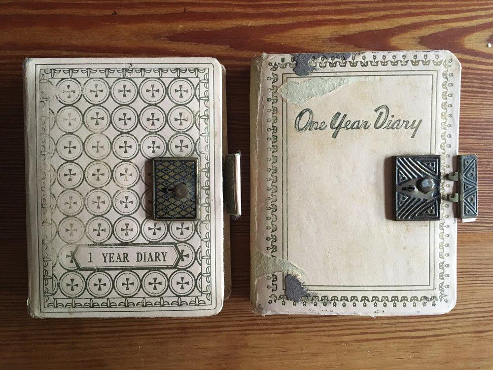 My first diaries, circa 1969 & 1970