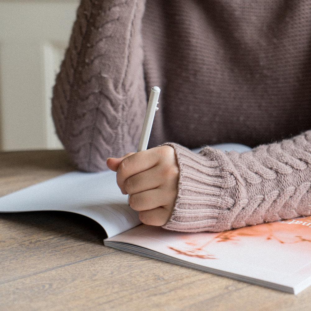 journal journalling girl selfcare self-care