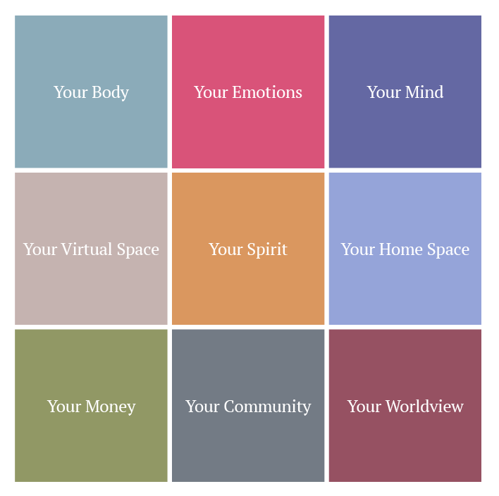 self care grid build a life you love