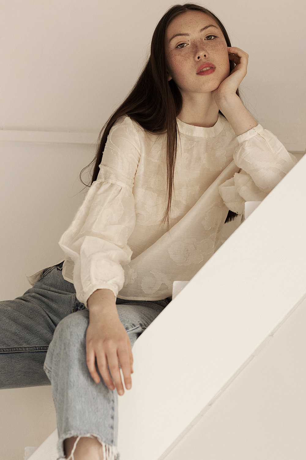 Blouse by Kelly Love @Young British Designers Jeans by Levi ́s