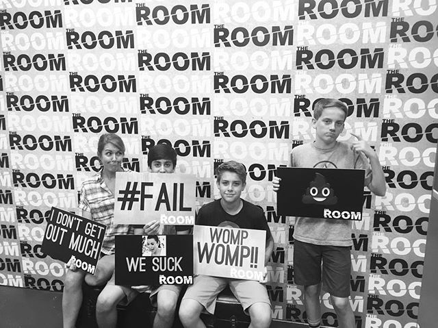 Mom rocked it with these guys! Great job. Better luck next time! 🔑 #theroomvb #escaperooms #escaperoom #puzzles #riddles #escaperoomvb #escaperoomvirginiabeach #escaperoomsvirginiabeach #hrva #757 #thingstodo #hamptonroads #vabch #vabeach #757 #757escaperooms