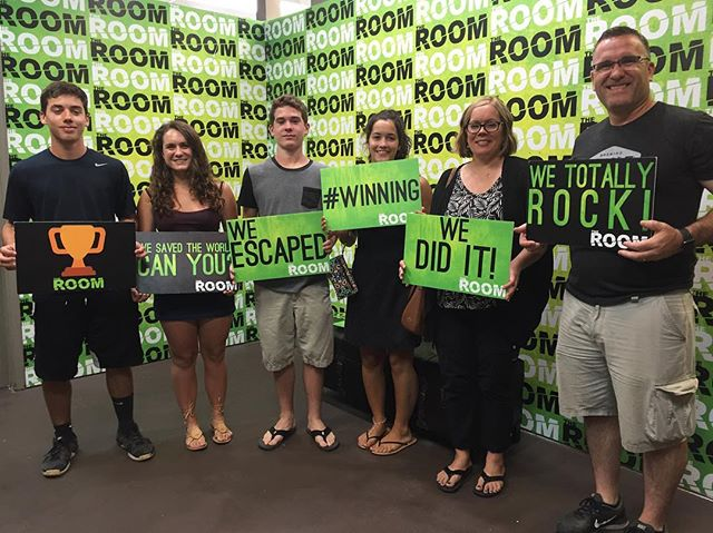 This family is the definition of team work! 10min to spare! Amazing!!! #theroomvb #escaperooms #escaperoom #puzzles #riddles #escaperoomvb #escaperoomvirginiabeach #escaperoomsvirginiabeach #hrva #757 #thingstodo #hamptonroads #vabch #vabeach #757 #757escaperooms