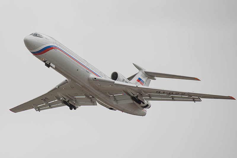 Tupolev Tu-154. First flight: October 4, 1968 ( Wiki )