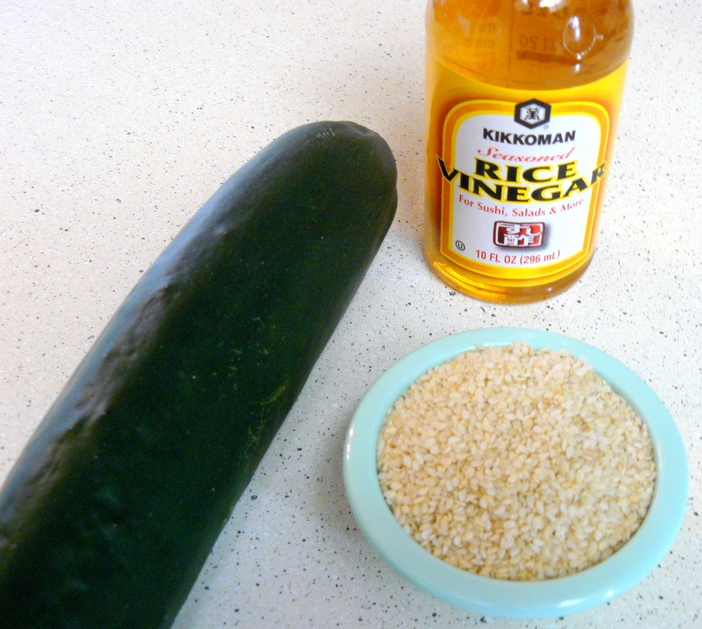 Cucumber Sesame Salad Ingredients