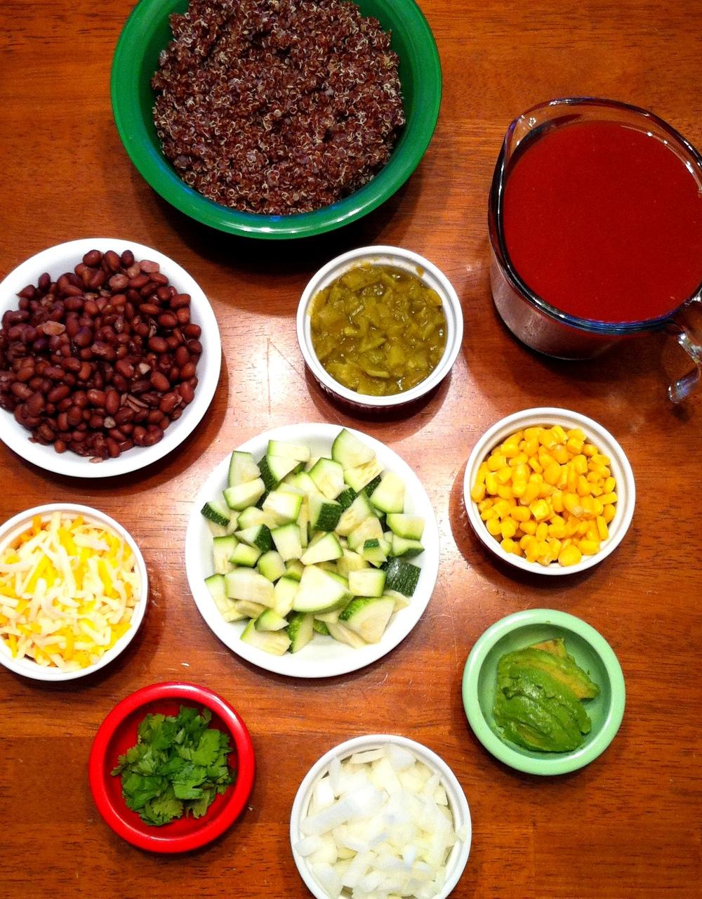 Quinoa Enchilada Bake Ingredients