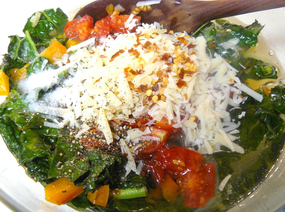 Veggie Egg Muffin Mixture in Bowl