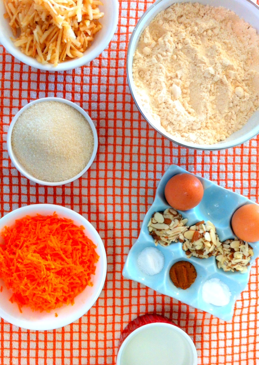Carrot Apple Muffin Ingredients