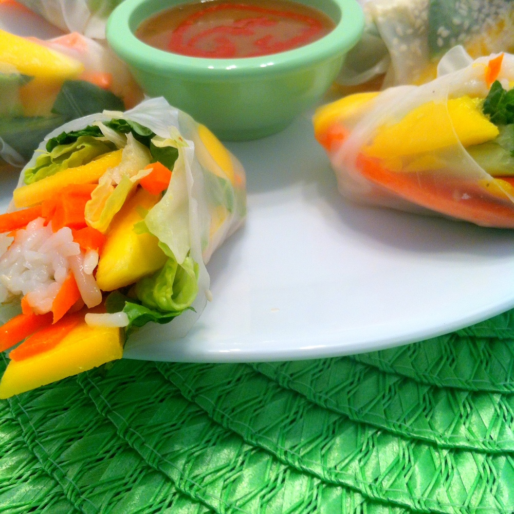Thai Spring Rolls up close
