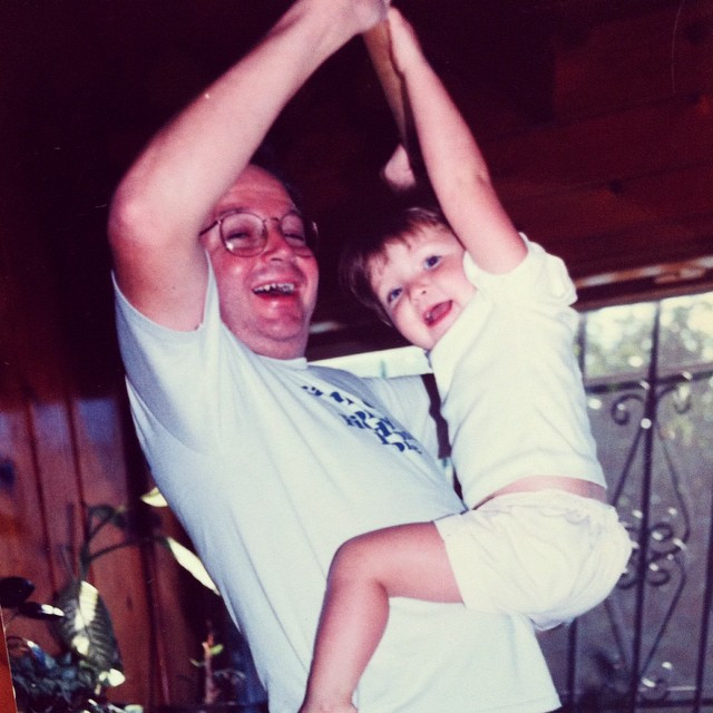 Dad and I, circa 1988