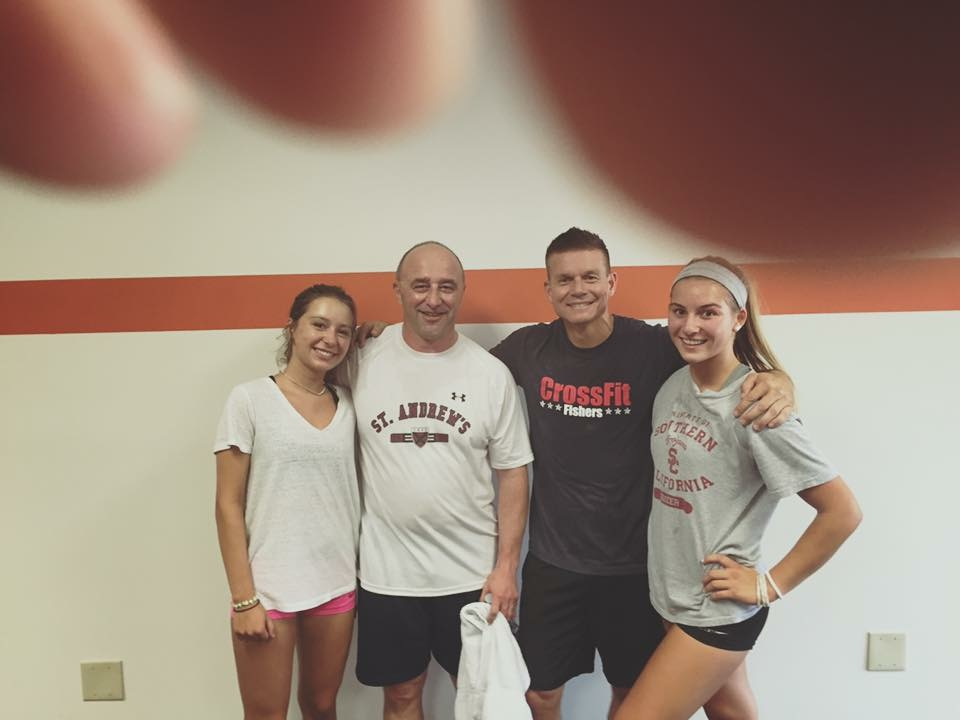Emily, Vince, Mark and Reagan post workout! Little did Vince know the monster he created!