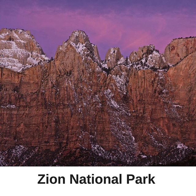 This is what sunrise looks like at Zion National Park! Absolutly beautiful. #Mighty5Tour #luxurytravel #utah #findyourpark
