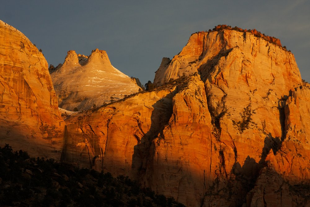The Majestic Beauty of Zion National Park at Sunrise.