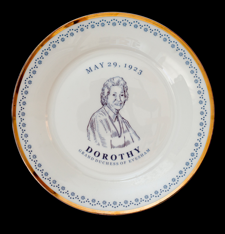 Dorothy, Grand Duchess of Evesham, Laird Royal Family Commemorative Plate Series, 2010.