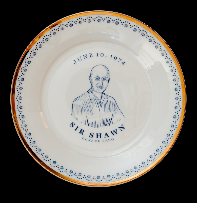 Sir Shawn, Duke of Reno, Laird Royal Family Commemorative Plate Series, 2010.