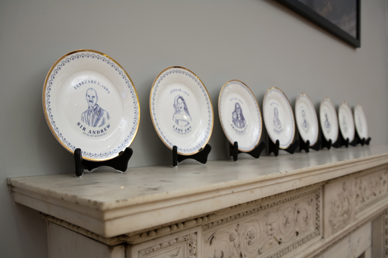 Laird Royal Family  Commemorative Plate Series, (Installation View), Historical Society of Pennsylvania, 2010