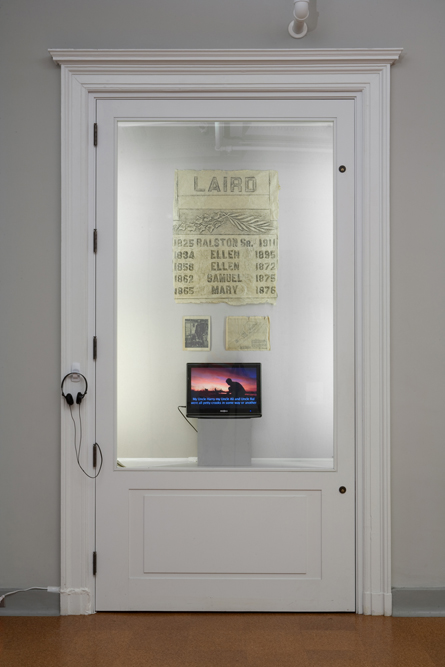 Reclaiming The Lost Kingdom of Laird (Installation View), Historical Society of Pennsylvania, 2010