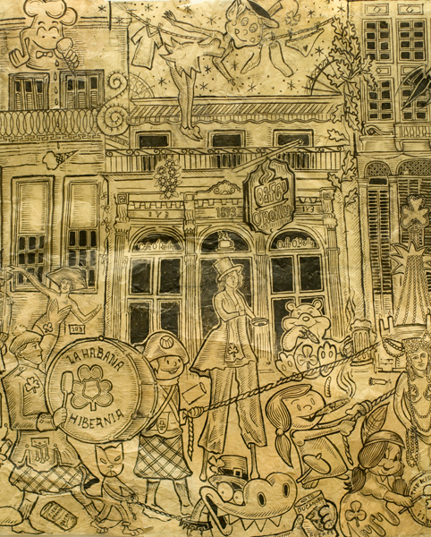 El Primer Desfile de San Patricio (detail), 2009